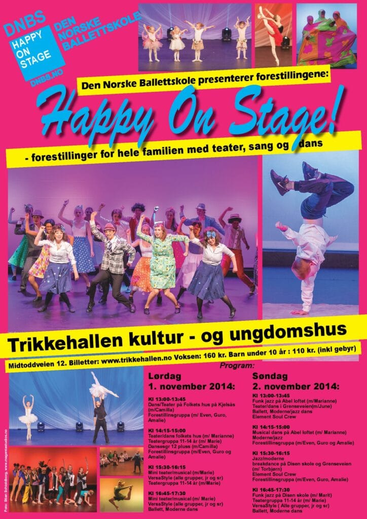 Happyonstagetrikkehallen2014 plakat jpg
