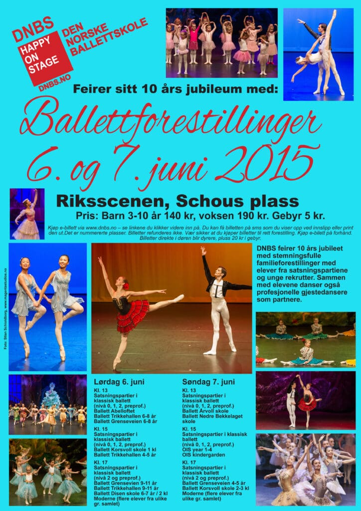 plakat ballettforestillinger 6-7 juni riksscenen