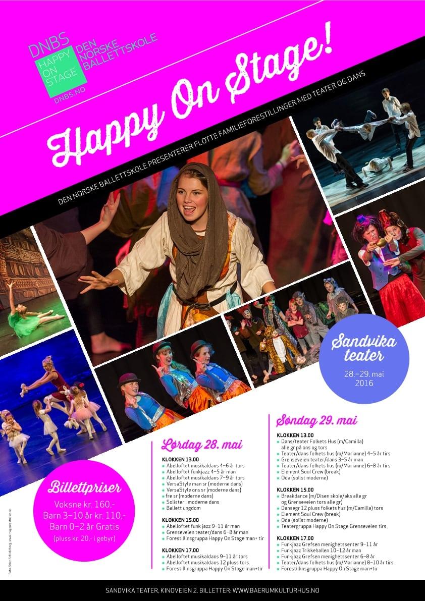 Happy On Stage DNBS_Plakat vår 2016